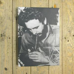 Exclusive - Fidel Lighting a Cigar Canvas