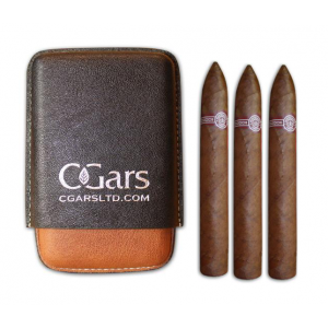 C.Gars Two Tone Cigar Case Fuerte and Montecristo No. 2 Sampler