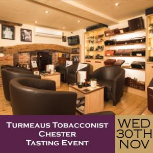 Turmeaus Chester Whisky & Cigar Tasting Event - 30/11/19