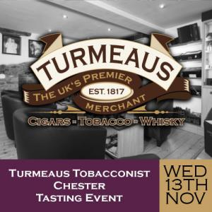 Turmeaus Chester Whisky & Cigar Tasting Event - 13/11/19