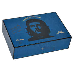 Elie Bleu Che Collection Sycamore Blue Humidor - 110 Cigar Capacity