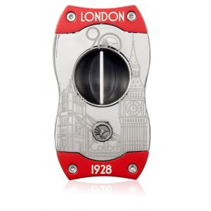 Colibri V Cut 90th Anniversary Limited Edition Cigar Cutter - Gunmetal & Red (End of Line)