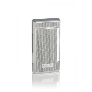 Caseti Twin Jet Lighter – Silver Carbon Fibre Effect