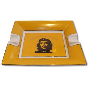 Che Motive Ceramic Cigar Ashtray – Two Cigars Rest - Yellow