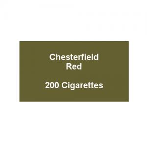Chesterfield Red King Size Cigarettes- 10 packs of 20 cigarettes (200)