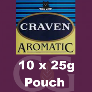 Craven Aromatic Pipe Tobacco 250g (10 x 25g Pouches)