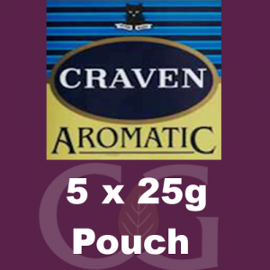 Craven Aromatic Pipe Tobacco 125g (5 x 25g Pouches)