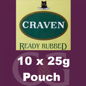 Craven Ready Rubbed Pipe Tobacco 250g (10 x 25g Pouches)