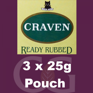 Craven Ready Rubbed Pipe Tobacco 075g (3 x 25g Pouches)