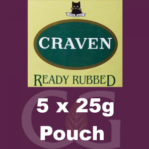 Craven Ready Rubbed Pipe Tobacco 125g (5 x 25g Pouches)
