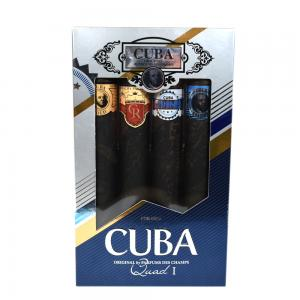 Cuba Quads Mens 4 Piece Cigar Style Aftershave 4 x 35 ml Gift Set
