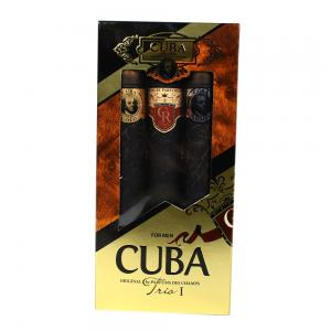 Cuba Mens Trio 3 Piece Cigar Style Aftershave Set 3 x 35 ml Gift Set