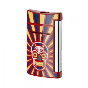 ST Dupont Lighter - Minijet - Day of the Dead - Red