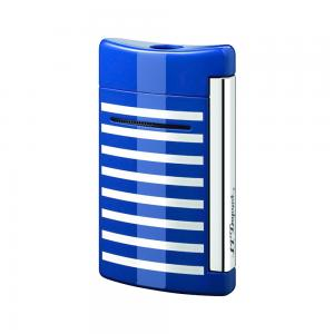 ST Dupont Lighter - Minijet Navy - Blue & White Stripes