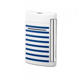 ST Dupont Lighter - Minijet Navy - White & Blue Stripes