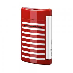 ST Dupont Lighter - Minijet Navy - Red & White Stripes