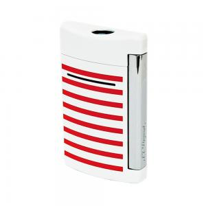 ST Dupont Lighter - Minijet Navy - White & Red Stripes