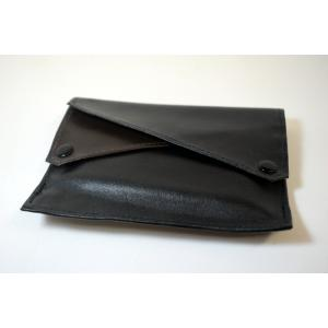 Dr Plumb Leather Wallet Style Black & Brown Double Pocket Tobacco Pouch (PP016)