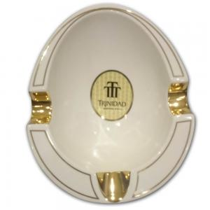 Trinidad Habana Cuba Ashtray - White and Gold