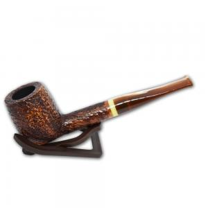 Savinelli Dolomiti 128 Rustic Light Brown 9mm Pipe (SAV52)