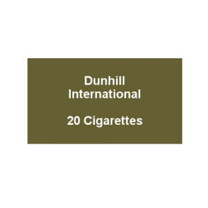 Dunhill International - 1 Pack of 20 Cigarettes (20)