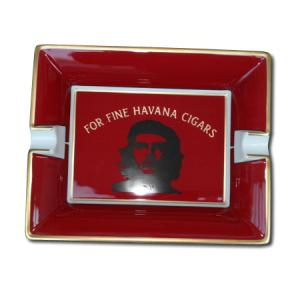 Elie Bleu Che Pop Art Red Porcelain Ashtray