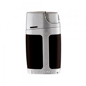 Xikar ELX Twin Jet Lighter with Punch Cutter Black