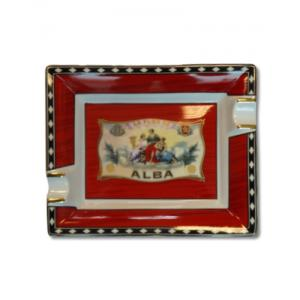 Elie Bleu Alba Red Porcelain Ashtray