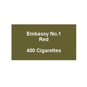 Embassy No. 1 Red - 20 packs of 20 cigarettes (400)