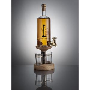 Fisherman Figure Tap and 2 Glasses - 350ml (Stylish Whisky) - 40%