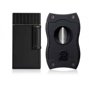 Colibri Julius Lighter & SV Cutter Set - Black