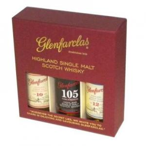 Glenfarclas 3x5cl Malt Whisky Miniature Selection - (10,105,12)