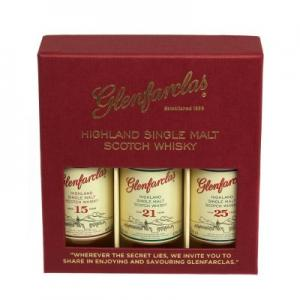 JANUARY SALE - Glenfarclas Miniature Gift Pack (15, 21, 25) 3 x 5cl