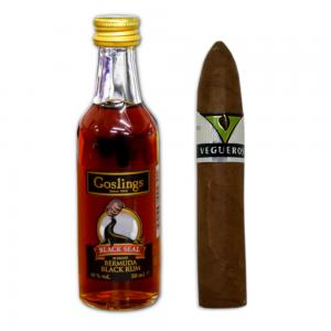 Intro to Pairing - Goslings Black Seal Rum + Vegueros Mananitas Cigar