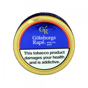 Goteborgs Rape White Dry Chewing Bag Tobacco Tin