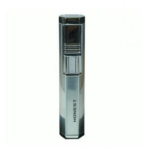 Honest Hutton Jet Flame Cigar Lighter with Cigar Punch - Chrome (HON69)