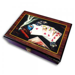 Casino Quality Half Size Poker Set - Brand New in Box - Cigar/Playing Cards