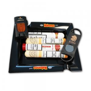 Habanos Havana Hamper - 4 Cigars, Lighter and Ashtray Gift Set