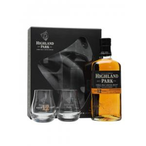 Highland Park 12 Year Old 1x70cl Whisky Gift Pack With 2 Glasses