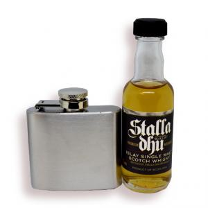 Stalla Dhu Islay and 2 oz Stainless Steel Hip Flask Sampler