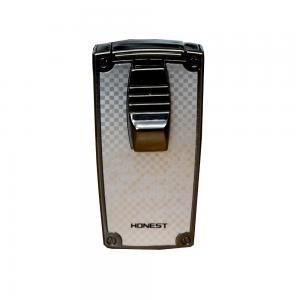 Honest G4 Chequered Silver Jet Lighter