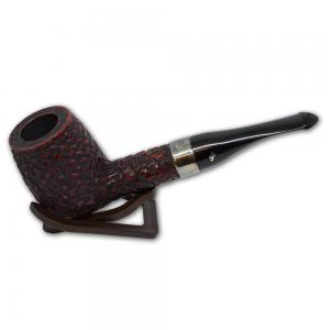 Peterson Large House Straight Billiard Rustic P/Lip Pipe