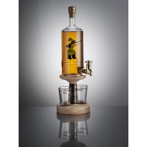 Hunter Figure Tap & 2 Glasses - 350ml (Stylish Whisky) 40%