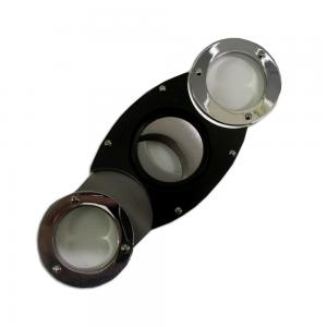 Rounded Chrome and Black Double Blade Cigar Cutter