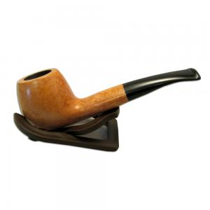 Alba Cortina Comfi Light Brown Smooth Semi Bent Briar Pipe (ALBA23)