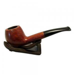 Alba Cortina Comfi Dark Brown Smooth Semi Bent Briar Pipe