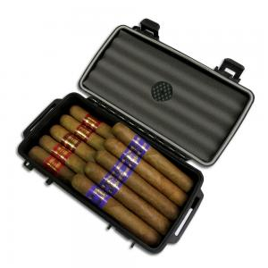 Inka Red and Blue Robusto Crushproof Travel Cigar Humidor Case Sampler