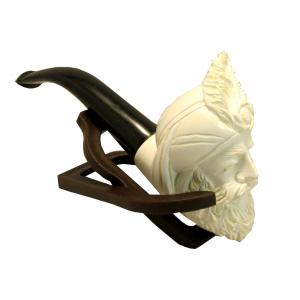 Medium Sultan With Feather Meerschaum Pipe