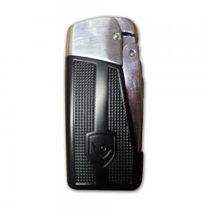 Vector General Windproof Cigarette Lighter - Black and Chrome