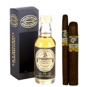 Intro to Pairing - Springbank 15 Year Old Whisky + Cohiba Cigar Selection